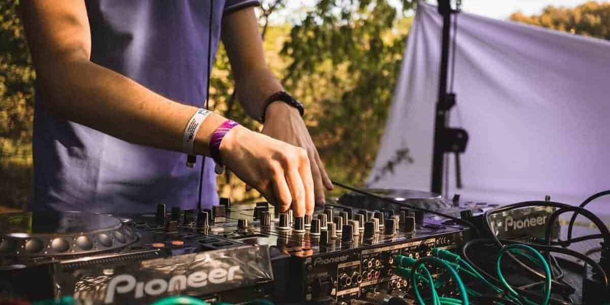 DJ playing live outdoors